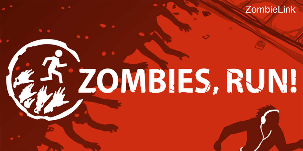 Screenshot of the Zombies Run website.