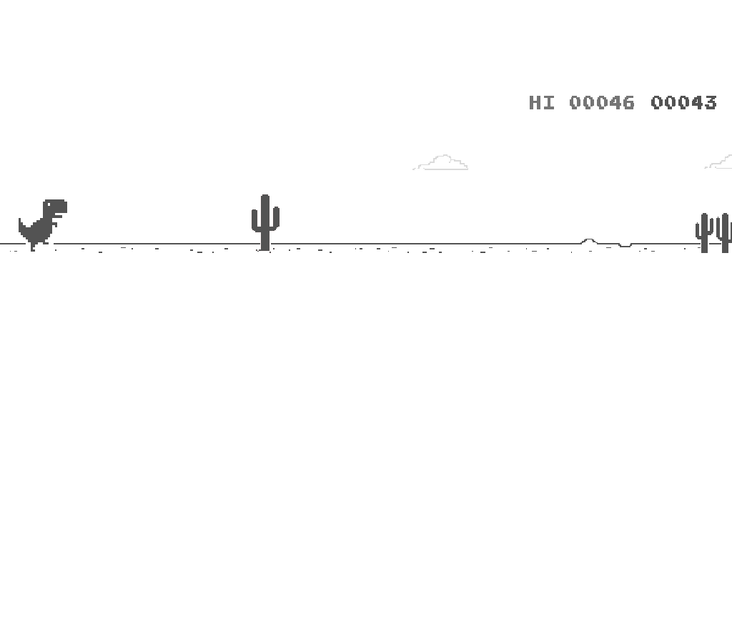 Screenshot of Google Chrome Dino Game