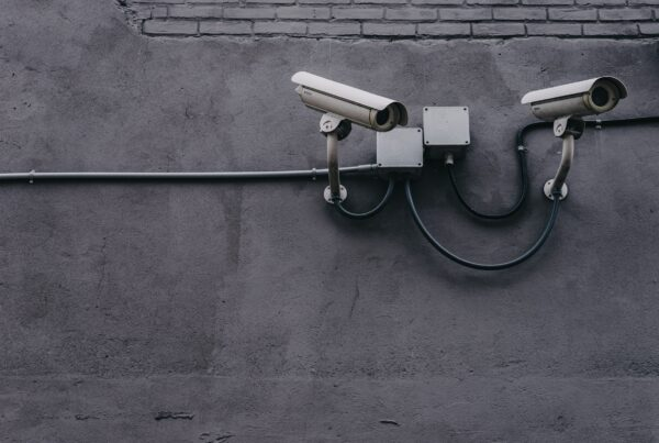 CCTV Cameras mounted on a concrete wall